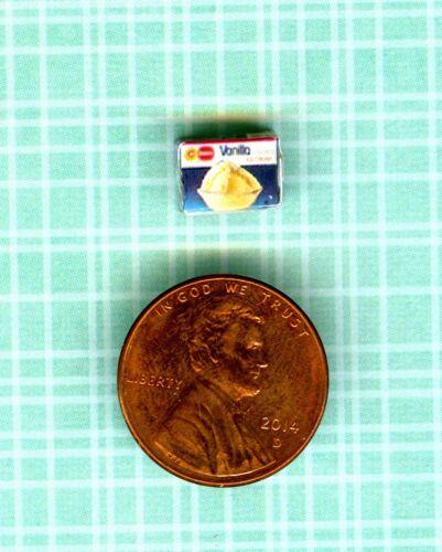 1//2 Half Inch Scale   Dollhouse Miniature  Vanilla  Ice Cream  Box