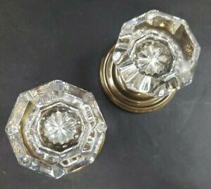 Crystal Door Knob Emtek 8050 Nos Ebay