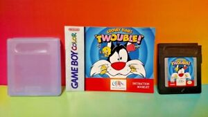 Looney-Tunes-Twouble-w-Manual-Case-Nintendo-Game-Boy-Color-GB-Rare-Tested