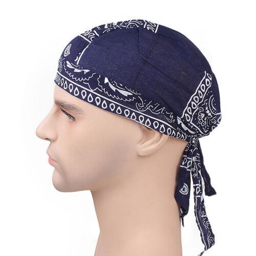 AG/_ Men Women Pirates Cycling Cap Bike Headband Hat Bandana Cotton Headcloth Del