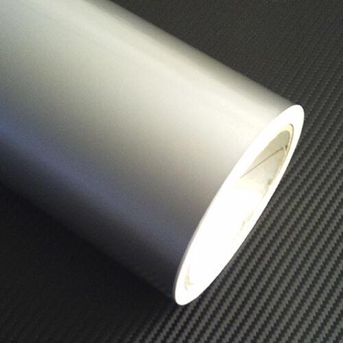SILVER METALIC VINYL FABLON ROLL 5m x 61cm