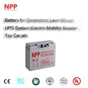 NPP 12V 18Ah 12Volt 18amp Rechargeable Deep Cycle Sealed Lead Acid Battery