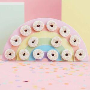 Rainbow-Donut-Doughnut-Wall-Birthday-Party-Wedding-Favour-Table-Stand