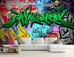 Hip Hop Graffiti Street Art 3d Full Wall Mural Photo Wallpaper