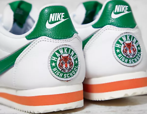 reputable site 888e8 4616a Details about Stranger Things x Nike Cortez Classic White Pine Green & Clay  UK 7-11 EUR 41-46