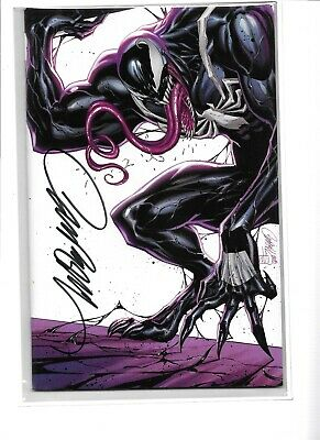 AMAZING SPIDERMAN 800 J SCOTT CAMPBELL SIGNED D VENOM VARIANT WITH COA NM