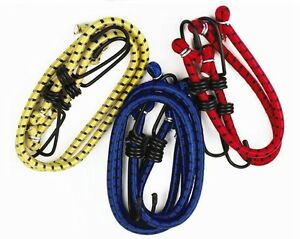 6 Bungee Straps Cords Set Hook Elasticated Rope Cord Tie Bikes Luggage Strap
