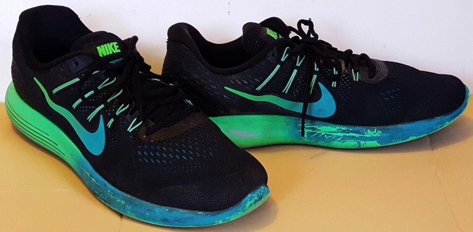 NIKE homme LUNARGLIDE 8 noir jade teal mesh RUNNING Chaussures 843725-003 Taille 14
