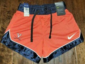 NEW Virginia UVA Cavaliers Women's Team Orange Shorts Nike Dri-Fit Size XS