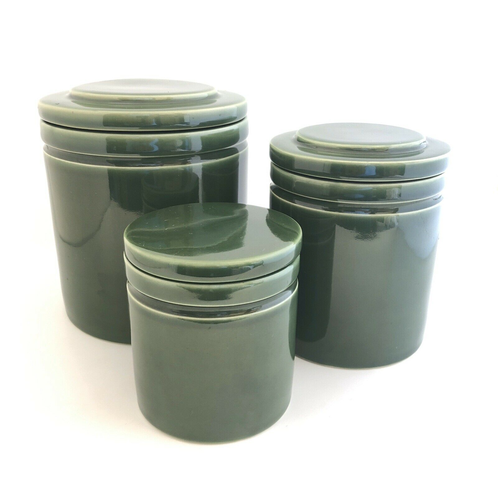 3 Furio Home Green Kitchen Canisters Ceramic