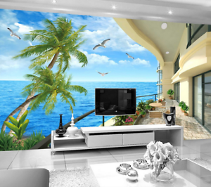 3D Bird Ocean 554 Wallpaper Murals Wall Print Wallpaper Mural AJ WALL AU Lemon