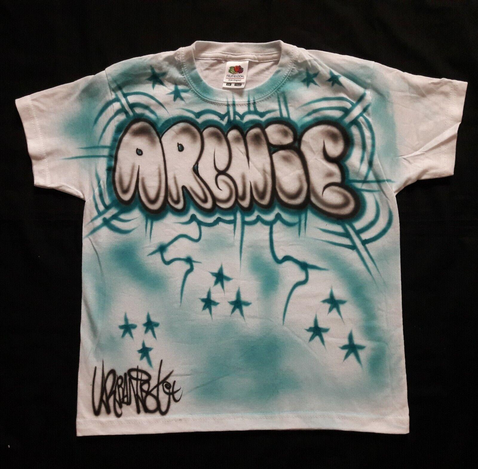 NEW Style personalised Urbanist Graffiti Street Dance, Hip Hop Kids T-Shirts