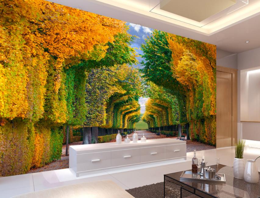 3D Autumn Art Park 753 Wall Paper Murals Wall Print Wall Wallpaper Mural AU Kyra