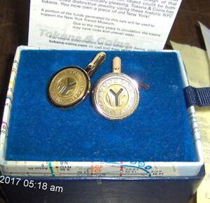 Subway Map Cufflinks.Details About New York City Subway Transit Token Cufflinks Gold Plated Brass W Bezel Nyc Y Cut