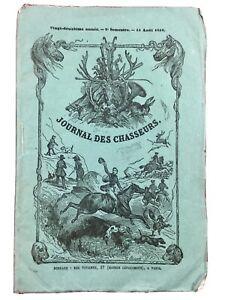 Chasse-Alpes-Savoie-1858-Saint-Jean-de-Maurienne-Autruche-Sahara-Tigre-en-Inde