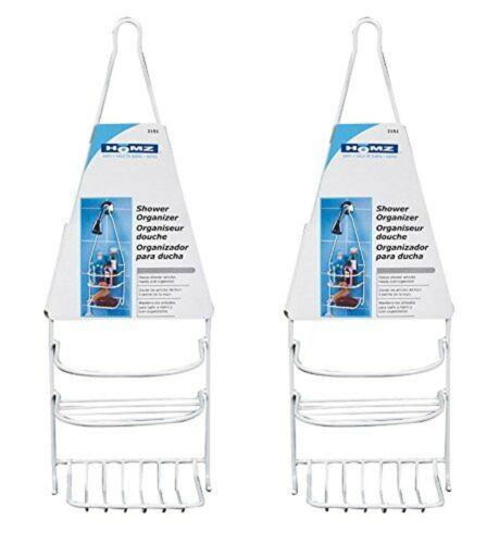 Homz Shower Organizer Steel White