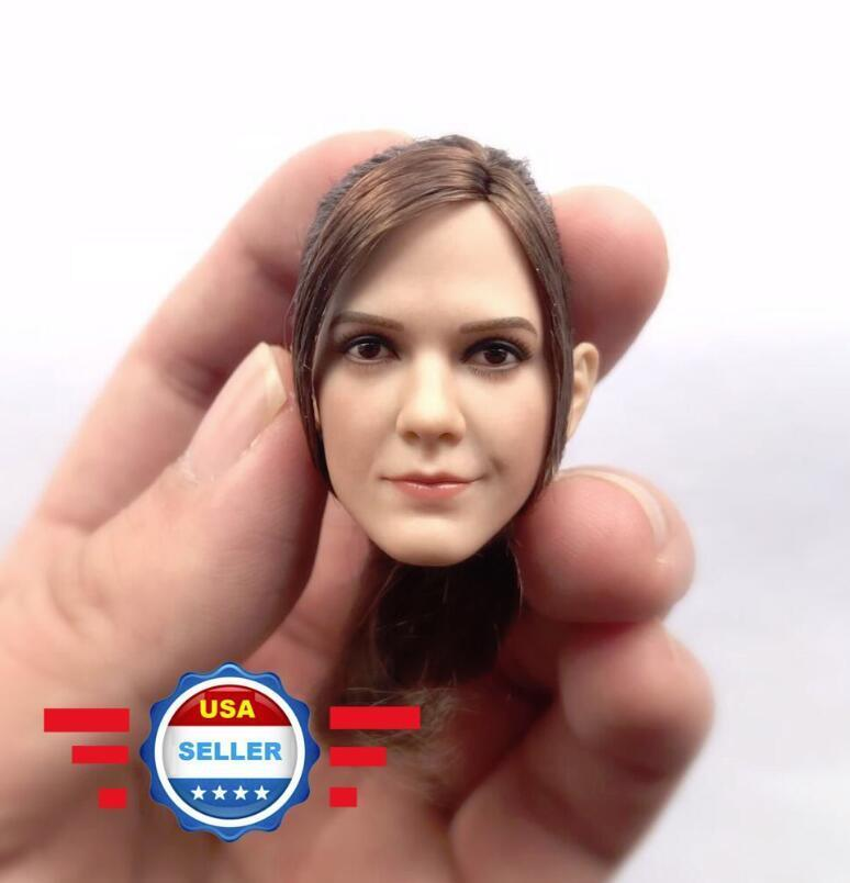 1 6 Emma Watson Head Sculpt with PONYTAIL Harry Potter Hermione for 12  PHICEN