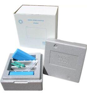 Boîte d'expédition de transport de sperme canine Minitube réutilisable