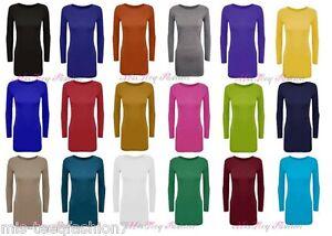 Ladies-Long-Sleeve-Bodycon-Short-Mini-Dress-Womens-Top