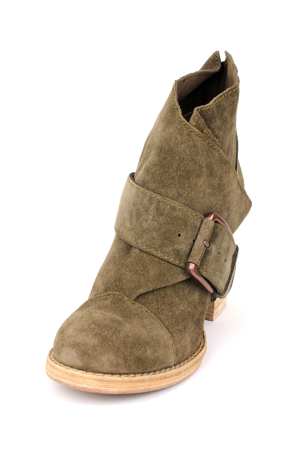 Joe's Jeans Grant Ankle Stiefel 195 Khaki Suede Schuhes Bootie Green NEU Buckle