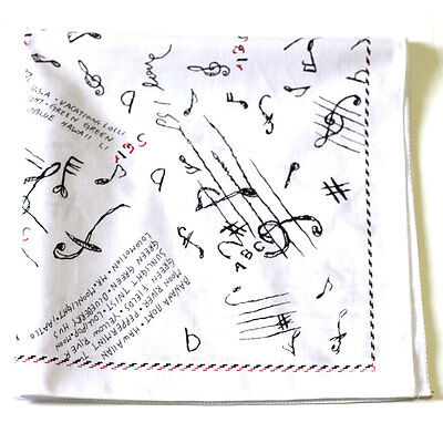 100% cotton Bandana 50 * 50cm Hats Head Design Music stories Whites and korea