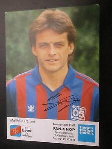13888-M-Herget-DFB-Bayer-Urdingen-original-signierte-Autogramm-Karte-1988-89