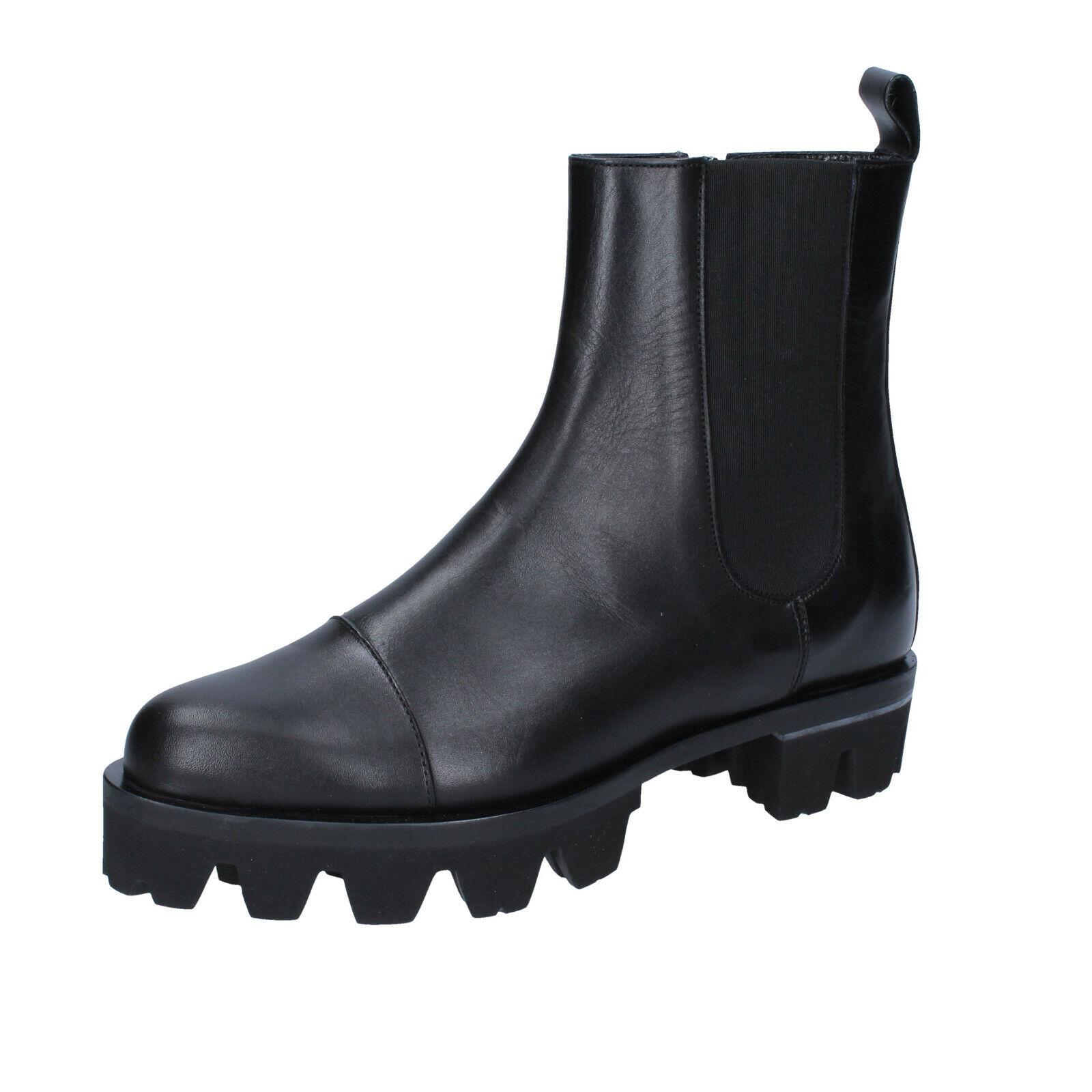 venta caliente Para mujeres Zapatos Roberto Botticelli 9 () botas botas botas al tobillo cuero negro BS278-39  ventas en linea