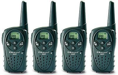 MIDLAND G5XT PMR446 LICENCE FREE WALKIE-TALKIE TWO WAY RADIOS - BABY MONITOR x 4