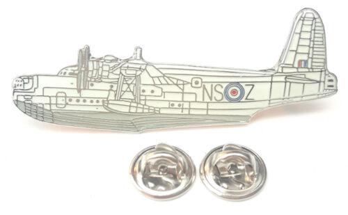 Sunderland Aeroplane Side View Enamel Lapel Pin Badge