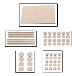 Beige-Auto-Adhesif-Feutre-Meubles-Pads-Floor-Scratch-Protection-chaise-table-Jambe