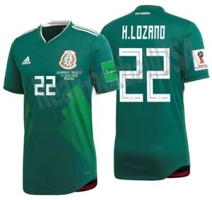 release date b4ba7 46701 Details about ADIDAS HIRVING LOZANO MEXICO AUTHENTIC HOME MATCH DETAIL  JERSEY WORLD CUP 2018.