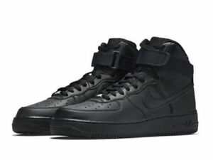 official photos 7ce16 f5912 Details about {315121-032} MEN'S NIKE AIR FORCE 1 HIGH '07 TRIPLE BLACK  *NEW!*