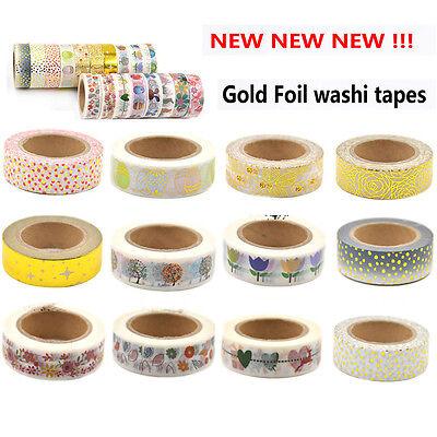DIY Paper Sticky Adhesive Masking Sticker Scrapbooking Decor Washi Tape