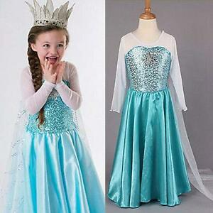Details About New Frozen Dress Elsa Anna Princess Dress Kids Costume Party Fancy Snow Queen