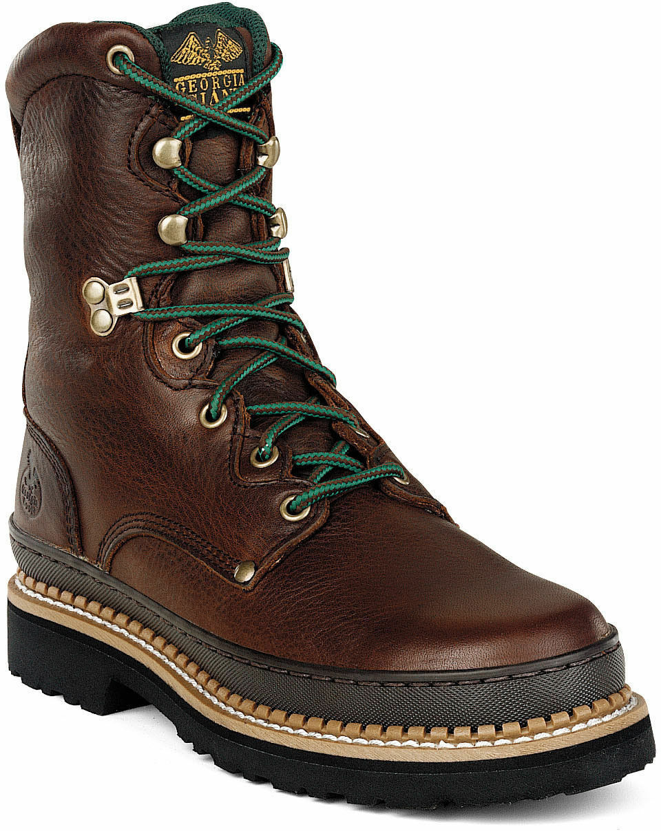 Georgia Giant 8inch Mens Steel Toe Work Boot Brown Size 8 G8374 FREE SHIPPING