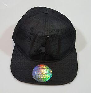 459a9f0e3b4 NIKE AIR JORDAN CAP HAT BLACK GREY JUMPMAN YOUTH 23 SNAPBACK