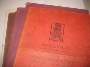 Soncino-Blatter-Soncino-Publications-1925-1932-6-ISSUES-German-Judaica