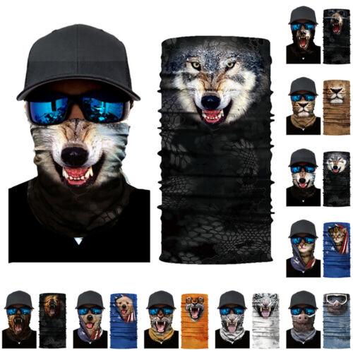 Outdoor Face Bandana Tube Scarf Neck Gaiter UV Protection 3D Printed Headwear