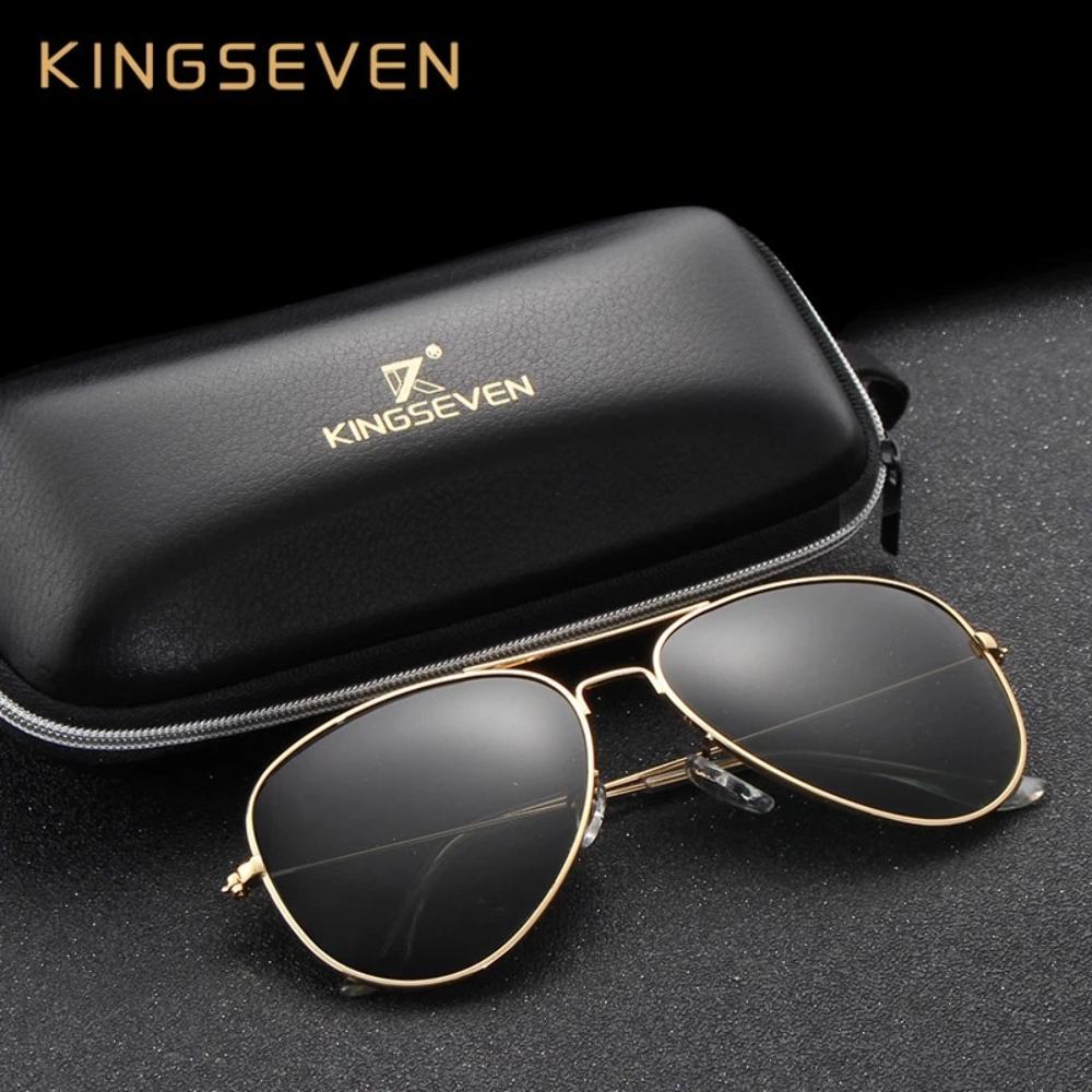 58mm Retro Clásico de sol polarizadas de mujer kingseven marca Hembra Gafas de sol