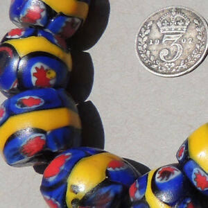 10-old-antique-venetian-round-millefiori-african-trade-beads-3995