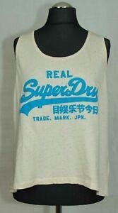 Haut-Femme-Superdry-Vintage-T-Shirt-Homme-Taille-M-Large-Style-Tres-bon-etat