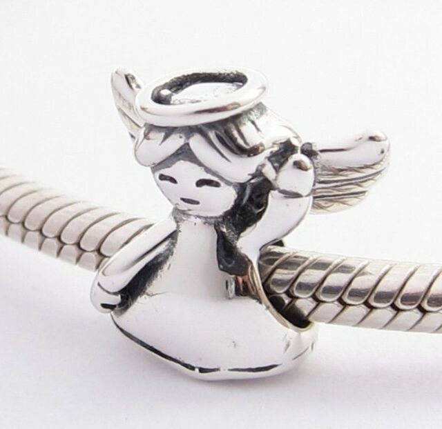 MY LITTLE ANGEL CHARM Bead Sterling Silver .925 For European Bracelets 898