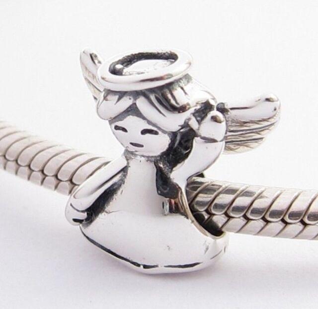 MY LITTLE ANGEL CHARM Bead Sterling Silver .925 For European Bracelets 898