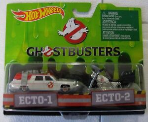 Hot-Wheels-Ghostbusters-Ecto-1-amp-Ecto-2-Motocicletta-Due-Pezzi-Nuovo