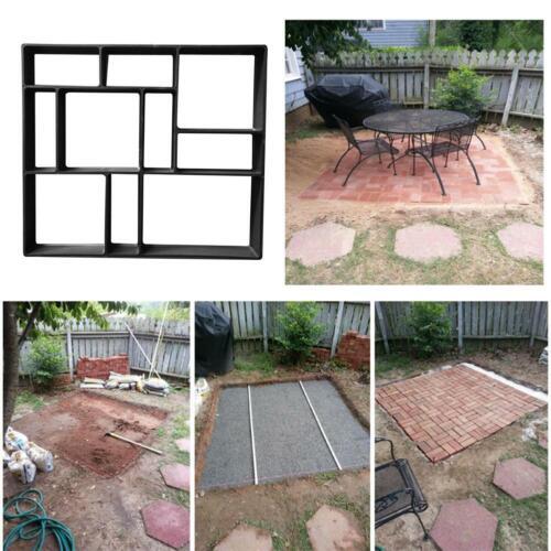 Garden Path Maker Mold DIY Pavement Mould Patio Walk Road Stone Concrete Paving