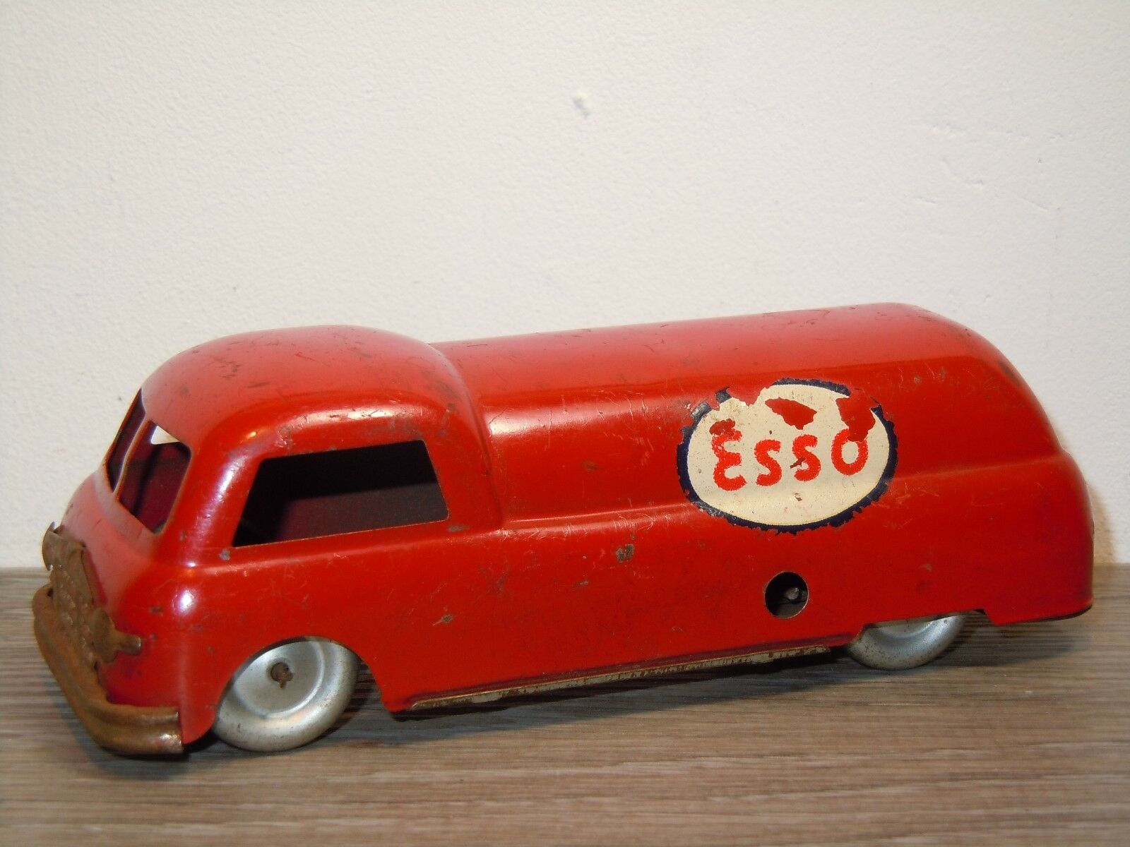 Old Petrol Tanker Esso - Ingap Padova  500 - Tinplate Toy 35339