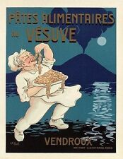"""Vintage French """"Pates Alimentaires Vesuve"""" Poster on Linen"""