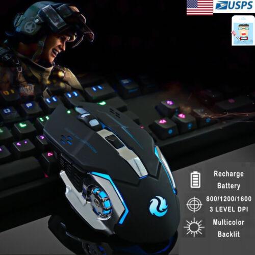 Ergonomic Pro Wireless LED Light 1600DPI Optical Usb Gamer Gaming Mouse Mice