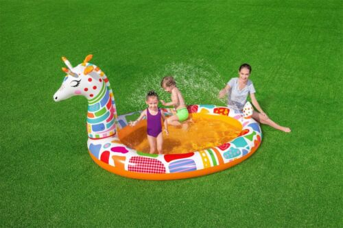 New Bestway Giraffe Sprayer Children's Kids Paddling Inflatable Swimming Pool