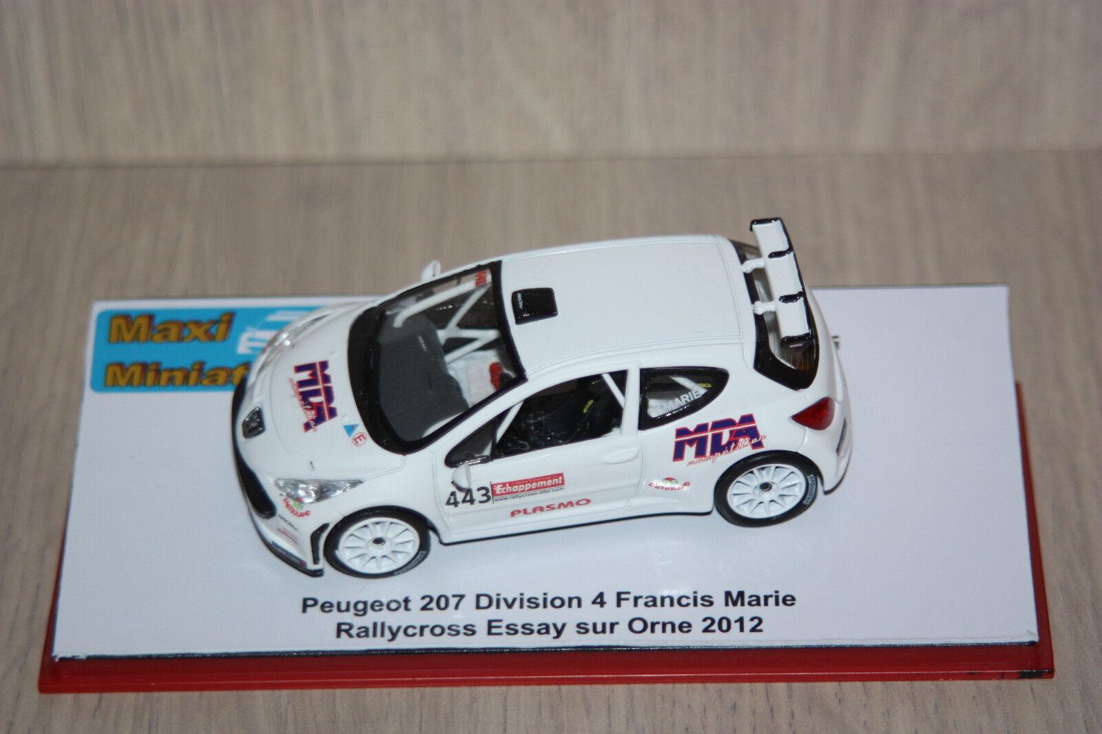 Peugeot 207 Division 4 Francis Marie Rallycross Essay sur Orne 2012 1 43e